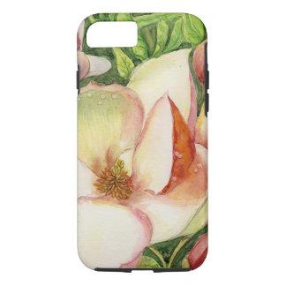 マグノリアの花の水彩画 iPhone 8/7ケース