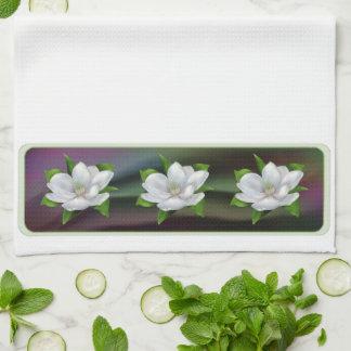 マグノリアの花 キッチンタオル
