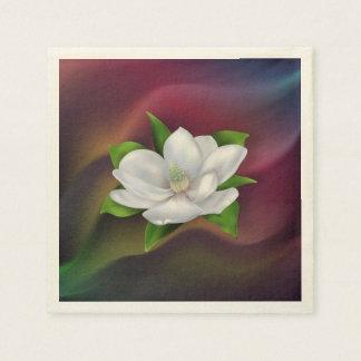 マグノリアの花 スタンダードカクテルナプキン