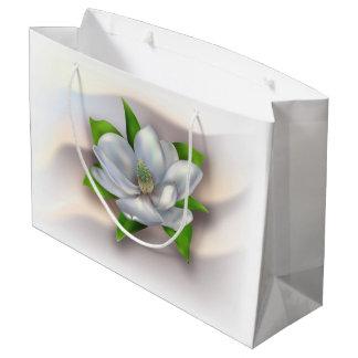 マグノリアの花 ラージペーパーバッグ