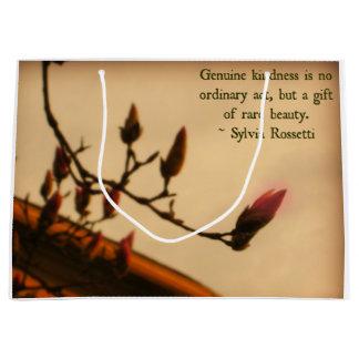 マグノリアの芽及び親切さの引用文 ラージペーパーバッグ