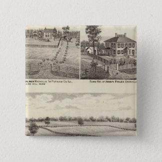 マグノリアの農場そして住宅 5.1CM 正方形バッジ