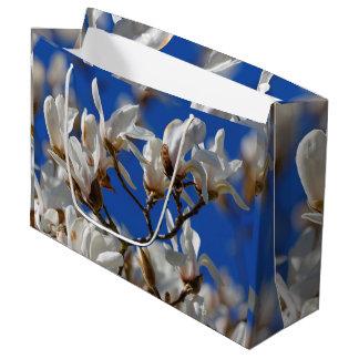 マグノリアのSargentianaの美しく白い花 ラージペーパーバッグ