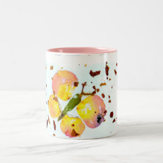 マグピンクスタイリッシュで多彩な蝶コーヒーか茶 ツートーンマグカップ