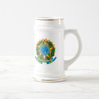 マグブラジルの紋章付き外衣 ビールジョッキ