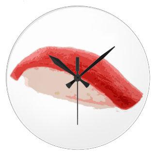 マグロのNigiriの寿司 ラージ壁時計