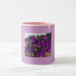 マグ紫色のペチュニア ツートーンマグカップ