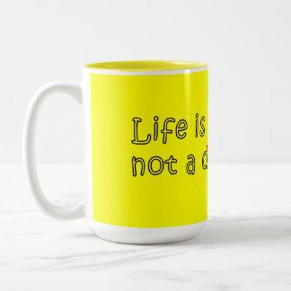 マグ14.07.031の生命は旅行です; ない行先 ツートーンマグカップ
