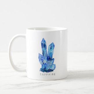 マグ9月Birthstone -サファイアの水彩画 の コーヒーマグカップ