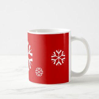マグ の休日の雪片 コーヒーマグカップ