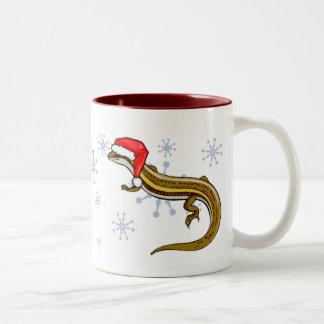 マグ-クリスマスのトカゲ ツートーンマグカップ