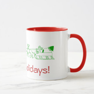 マグ-サンタのそりとの幸せな休日 マグカップ