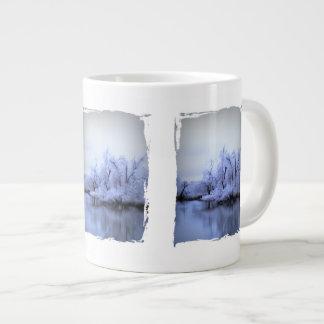 マグ、ジャンボ、ヤナギの冬の不思議の国 ジャンボコーヒーマグカップ