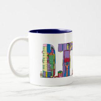 マグ|デトロイト、MI (DTW) ツートーンマグカップ
