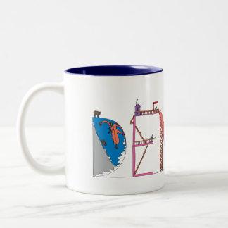マグ|デンバー、CO (洞穴) ツートーンマグカップ