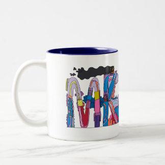 マグ|ミルウォーキー、WI (MKE) ツートーンマグカップ