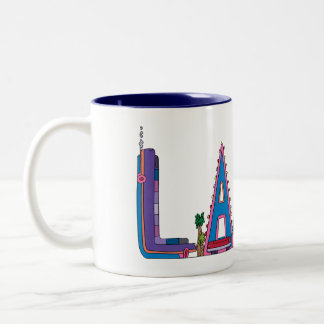 マグ|ラスベガス、NV (LAS) ツートーンマグカップ