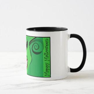 マグ-恐い顔の緑のデザイン マグカップ