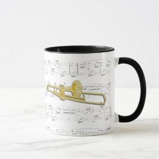 マグ-楽譜のトロンボーン(valved) マグカップ