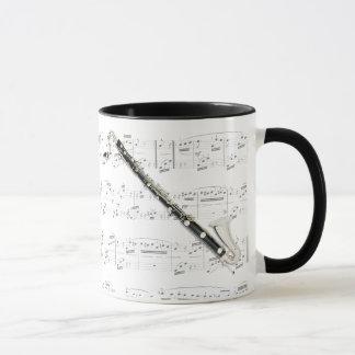 マグ-楽譜のバスクラリネット マグカップ