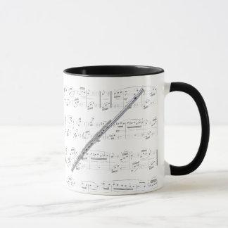 マグ-楽譜のフルート マグカップ