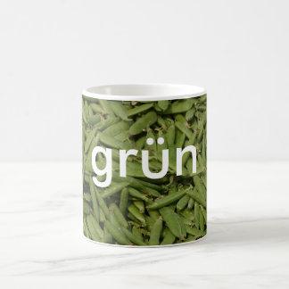 マグ: 着色しますドイツの緑(grün)を コーヒーマグカップ