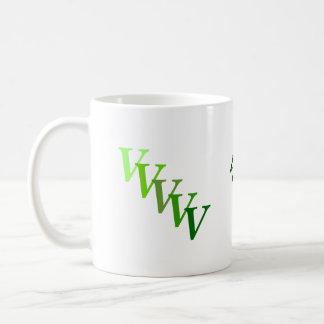 マグ-緑の名前およびイニシャル コーヒーマグカップ