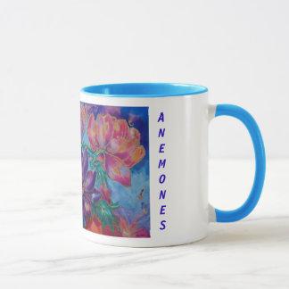マグ、花柄、paaintingアネモネ マグカップ