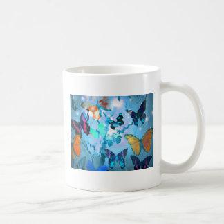 マグ、蝶天国 コーヒーマグカップ