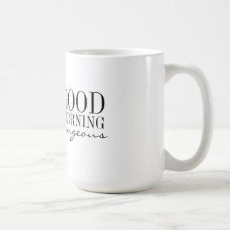 マグ-豪華なおはよう コーヒーマグカップ