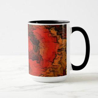 マグ。 赤の茶色の抽象的なイメージ マグカップ