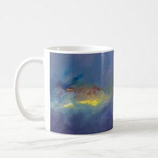 マグ-青のひび コーヒーマグカップ