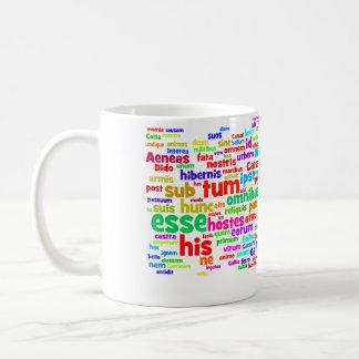 マグ: apのラテン200の主要な単語 コーヒーマグカップ