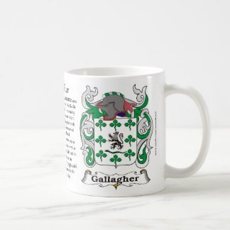マグGallagher家族の紋章付き外衣 コーヒーマグカップ