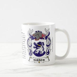 マグGiles家族の紋章付き外衣 コーヒーマグカップ