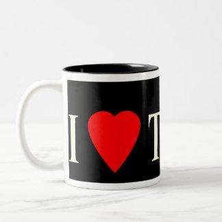 マグIのハートのタンゴの黒 ツートーンマグカップ