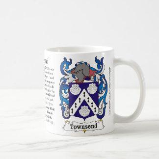 マグTownsend家族の紋章付き外衣 コーヒーマグカップ