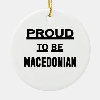 マケドニアがあること誇りを持った セラミックオーナメント
