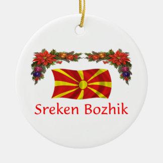 マケドニアのクリスマス セラミックオーナメント