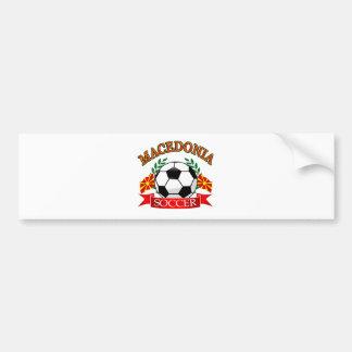 マケドニアのサッカーボールのデザイン バンパーステッカー