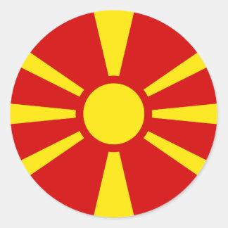 マケドニアのステッカーの旗 ラウンドシール