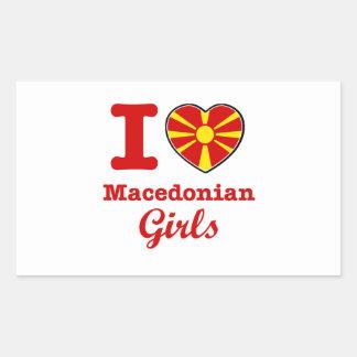 マケドニアのデザイン 長方形シール