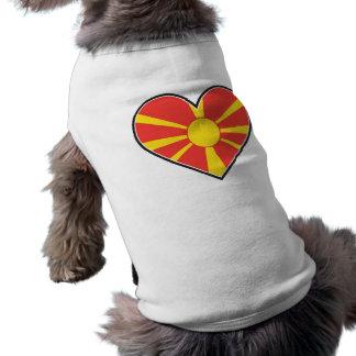 マケドニアのハートの旗 ペット服