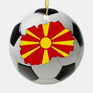 マケドニアのフットボールのサッカーのオーナメント セラミックオーナメント