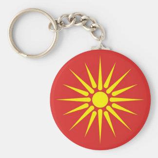 マケドニアの国の古い旗 キーホルダー