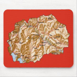 マケドニアの地図のマウスパッド マウスパッド