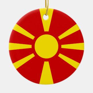 マケドニアの旗のオーナメント セラミックオーナメント