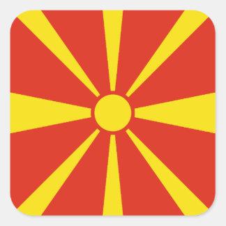 マケドニアの旗のステッカー スクエアシール