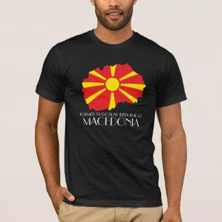 マケドニアの旗地図のワイシャツ Tシャツ