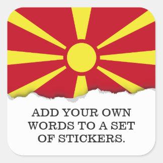 マケドニアの旗 スクエアシール